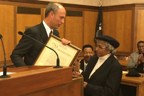 Legislator Gelfarb Honors Long-Time Community Volunteer, Descendant of Historic Rye Family