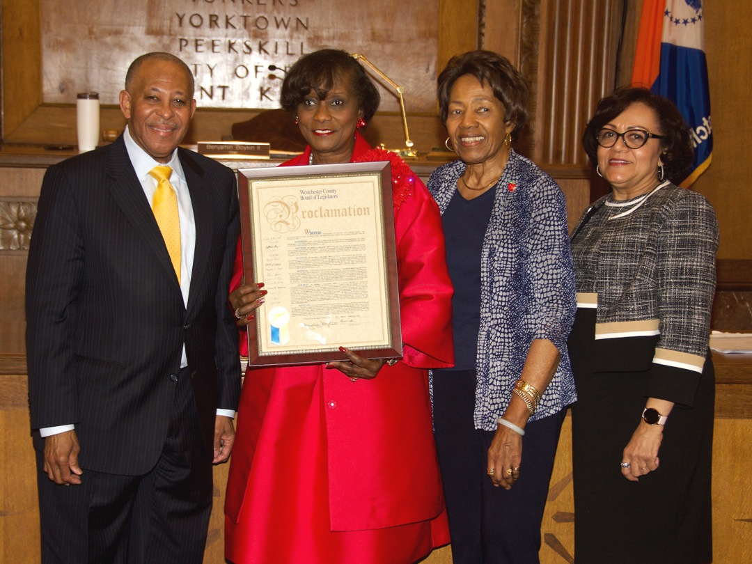 Chair Ben Boykin, Dr. Brenda L. Galloway Smith, Vice Chair Alfreda Williams, Legislator Terry Clements